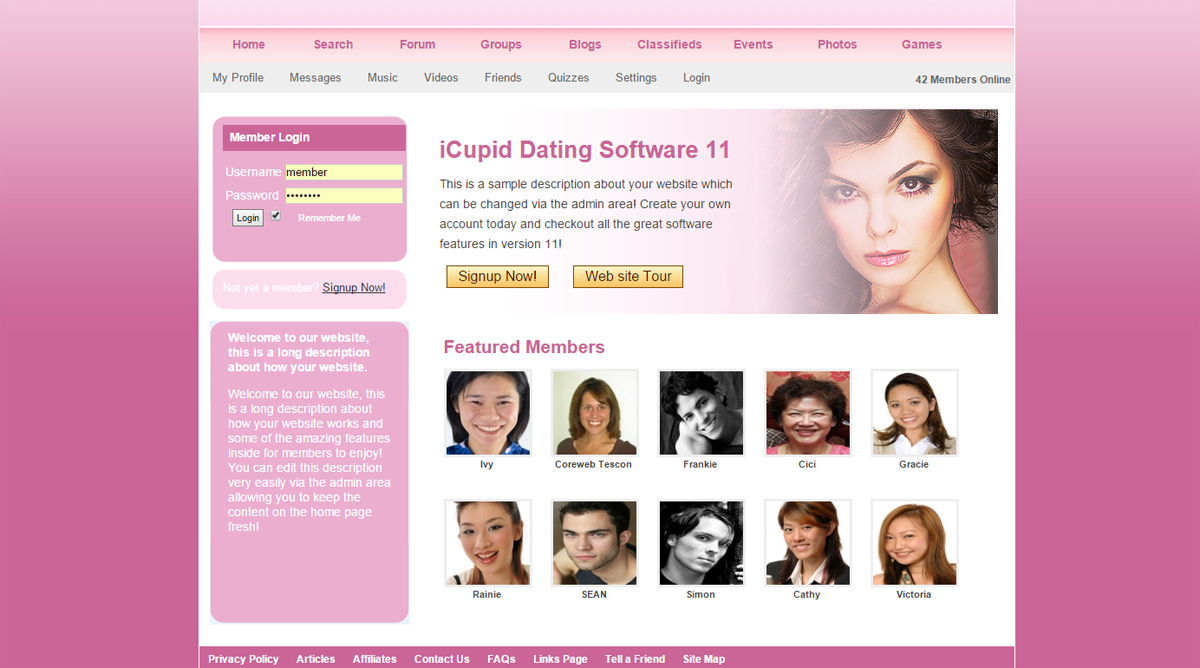 online dating descriptions An essential part in getting laid using online dating is learning how to create an online dating profile that can way that most men's online dating profiles.