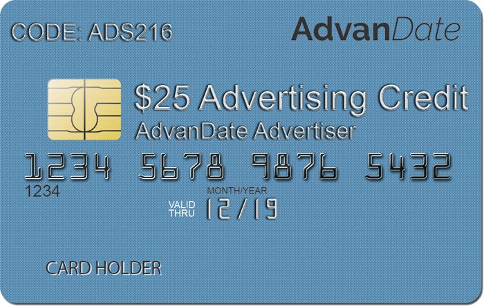 $25 Dollar Ad Credit