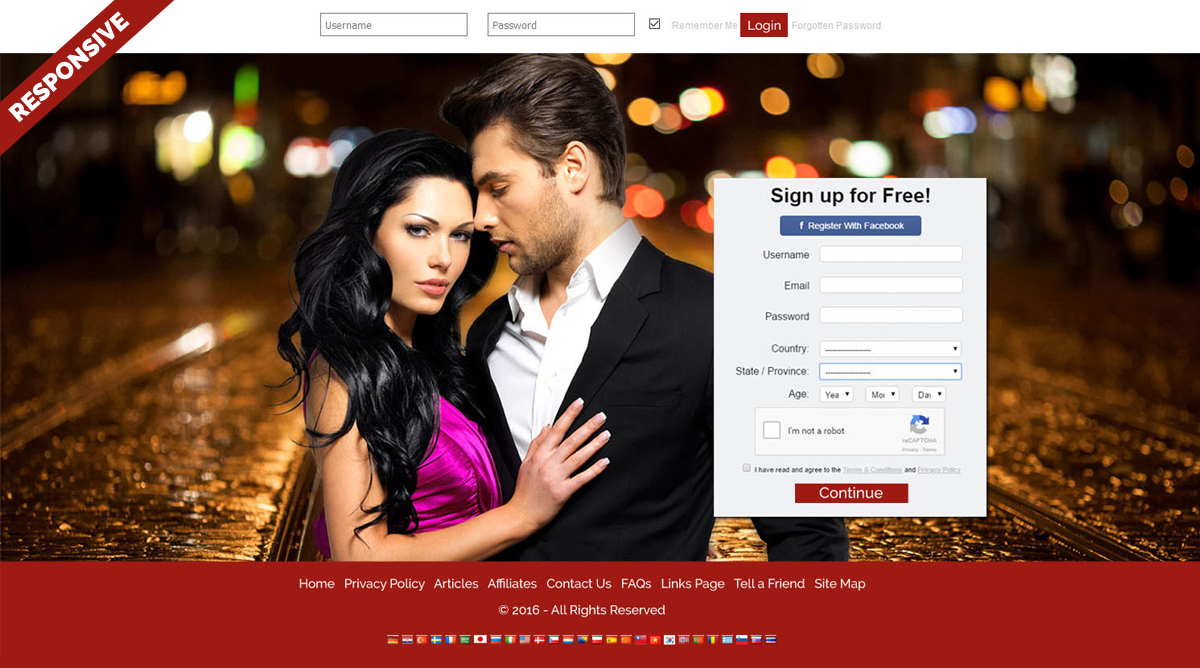 Free website templates dating