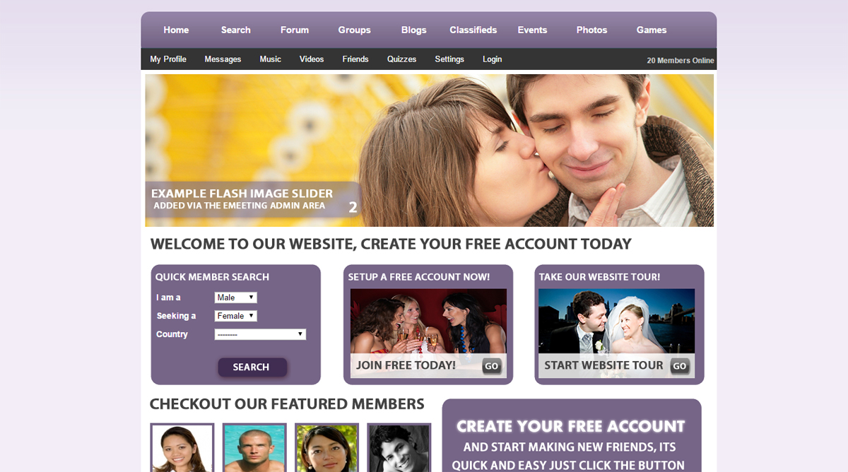 dating site script wordpress