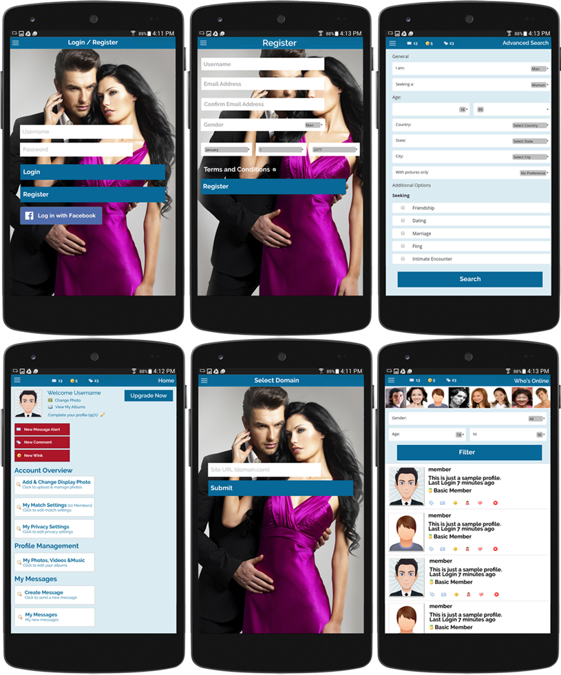 Full Featured Mobile Dating
