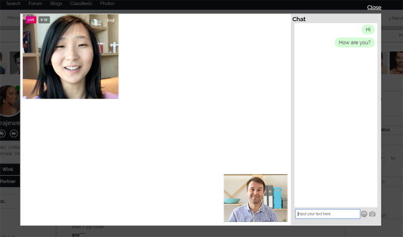 Live Video Chat Integrated