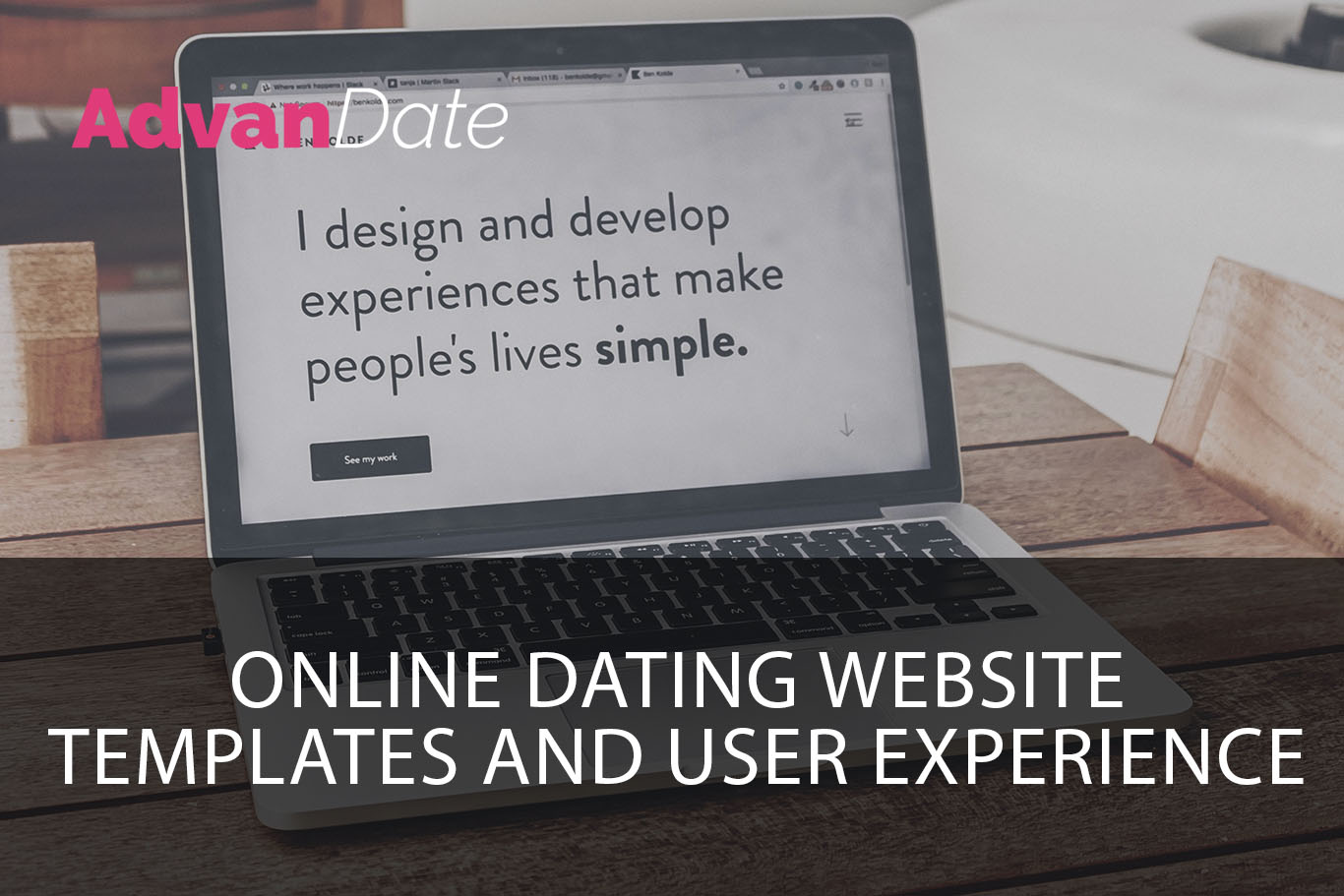 Online dating website templates and user experience