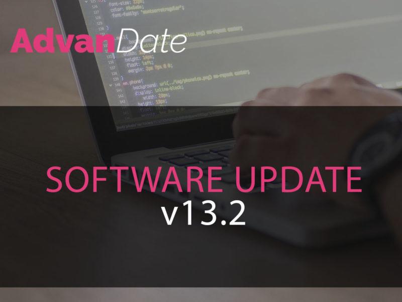 AdvanDate Software update v13.2